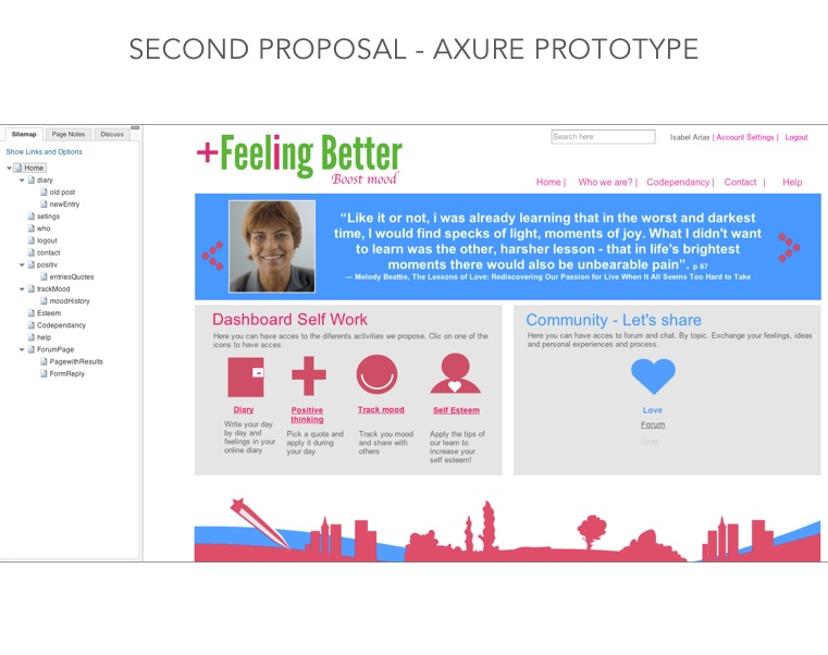 Axure prototype home page